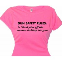 """gun safety don't piss off the woman holding gun"" - NRA supporters"